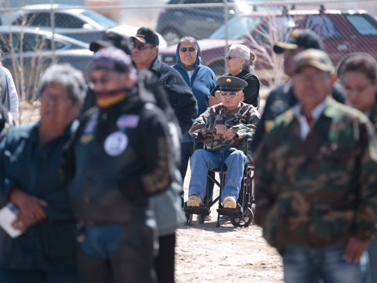 Veterans and community members attend a Vietnam Veterans Day event on Thursday at the Northern Navajo Veterans Center in Shiprock.