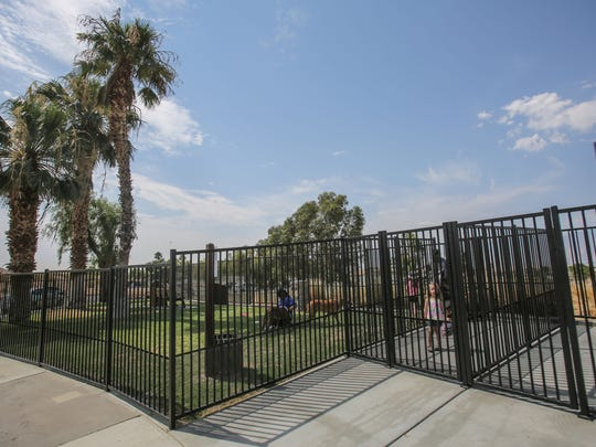 Desert Hot Springs opened Rotary Park, the new and only dog park in Desert Hot Springs. Photo taken on Saturday, July 8, 2017.