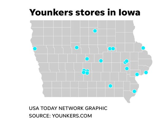 There are 17 Younkers stores in Iowa that will close by the end of the summer.