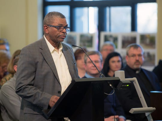 The Rev. Joe Hooper asks commissioners to join Welcoming