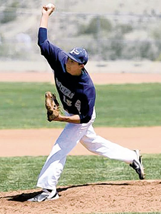 Nate Dominguez throws a pitch in 2013 as a member of the Piedra Vista Panthers.