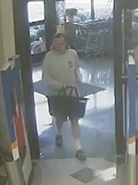Police believe the man seen here shoplifted from Kroger on Thursday and later stole a wallet from a Regional Hospital patient.