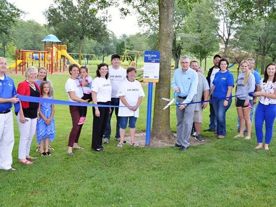 The Sheboygan County Chamber of Commerce helped with the grand opening of the Born Learning Trail as Oschwald Park in St. Nazianz with a ribbon-cutting Aug. 10.