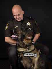 St. Clair County Sheriff Deputy Mike Pink and Fist