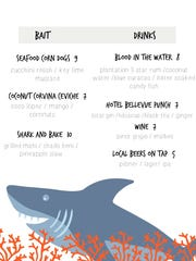 Crush XI special Shark Week menu