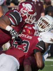 New Mexico State linebacker Rodney Butler is among