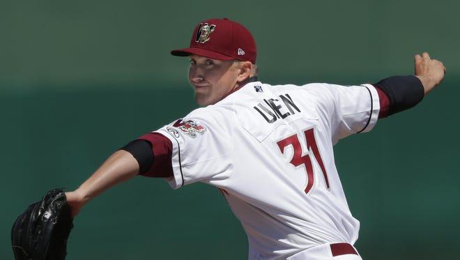 Josh Uhen, an Oshkosh North graduate, is 1-2 on the season with a 5.93 ERA.