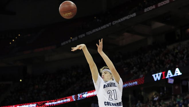 Nick Malovrh is a reason why Columbus Catholic is ranked second in Division 5 in the first Associated Press state boys basketball poll of the season.