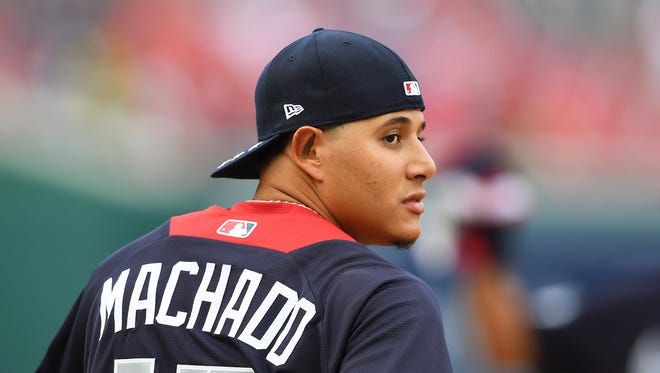 Manny Machado now plays for the Los Angeles Dodgers.