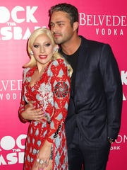Lady Gaga, left, and Lancaster native Taylor Kinney