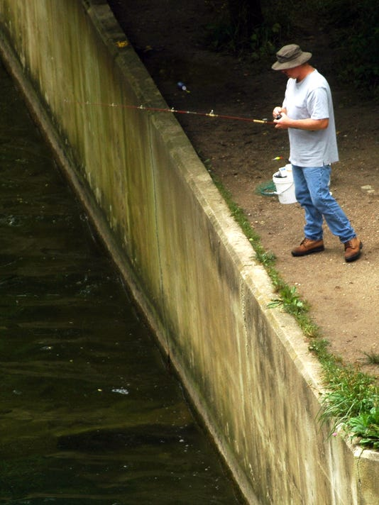 Afternoon fishing at Whitewater State Park