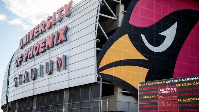 The exterior of the University of Phoenix Stadium.