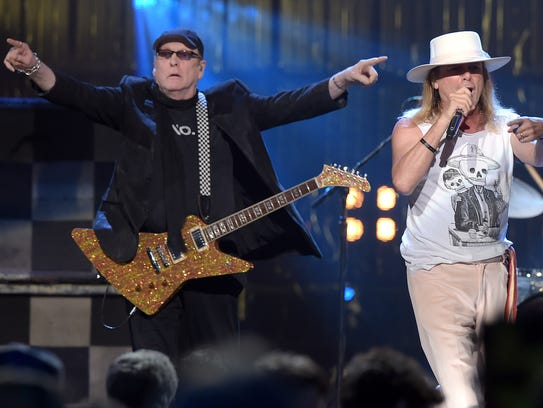 Cheap Trick, inducted into the Rock and Roll Hall of