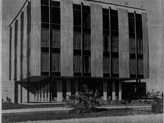 The Gulf American Land Corp.'s four-story structure dominated Cape Coral in the early days and appeared in the pages of the News-Press on Dec. 8, 1963.