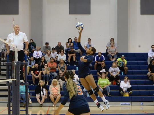 COS Giants standout Idalis Rubalcava, a Sierra Pacific grad, leads the women's volleyball team in kills this season.