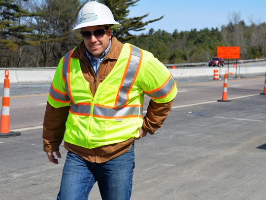 VTrans Resident Engineer Greg Wilcox, 43, of Milton on the job replacing the I-89 bridges over the Lamoille River in Milton on Thursday. Work slated to be complete in 2016.