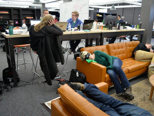 A 24-hour hackathon to create a brighter energy future for Vermont called HackVT at the Fairpoint Technology Hub in Burlington on Friday. Twenty-two teems of about 90 people competed to win $20,000 in cash and prizes.