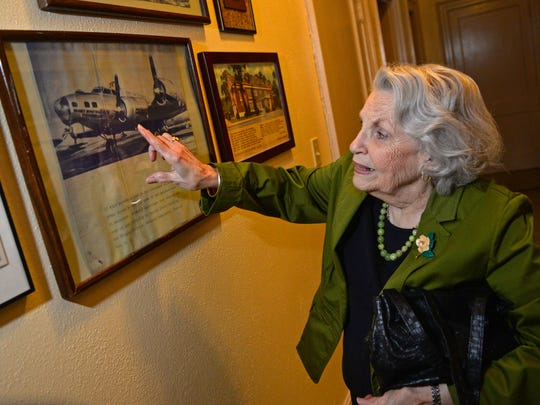 Maredia Bowdon talks about a pair of planes the Women's Department Club purchased and donated to the U.S. Military during WWII.