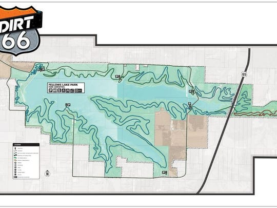 TrailSpring is working with City Utilitiesto develop a mountain bike/hiking trail around the 860-acre lake.