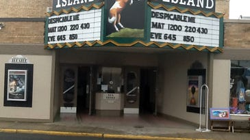 A picture of the renovated Island Theater in Chincoteague.