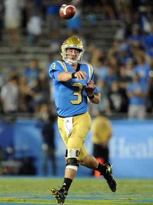 UCLA quarterback Josh Rosen throws a pass against UNLV in 2016.