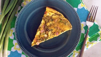 Smoked Salmon Frittata uses a full dozen eggs -- great especially if you have a surplus from backyard hens.