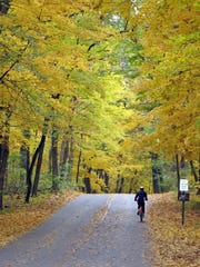 As temperatures cool and tree leaves change color, it's a fine time for a bike ride.