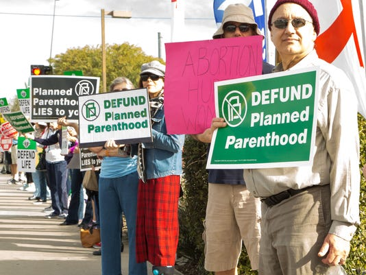 Planned Parenthood protesters