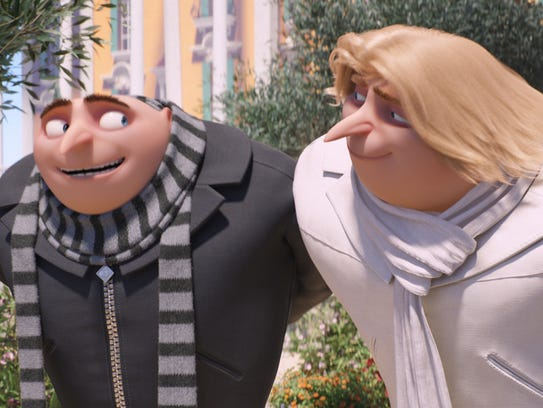 """Gru (Steve Carell) and Dru (Steve Carell) in """"Despicable"""