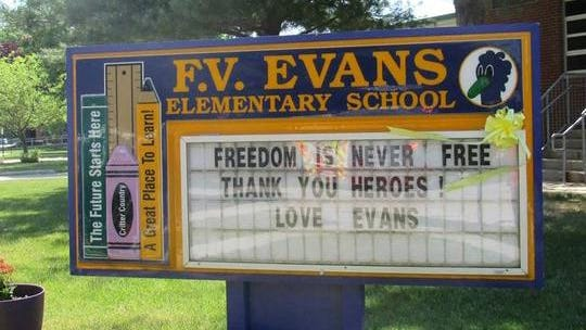 The Evesham Board of Education voted to close F.V. Evans Elementary School.