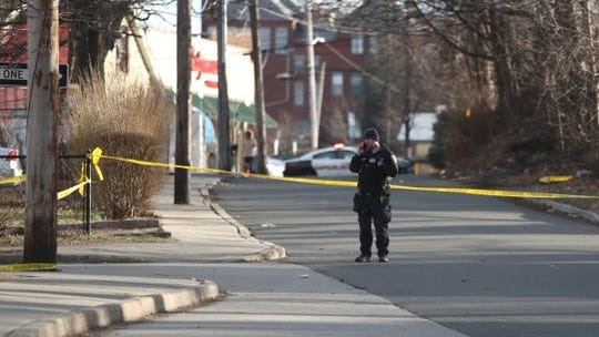 Police activity on Franklin St. in Spring Valley on Thursday, February 27, 2020. One shooting victim was taken to Westchester Medical Center, police are searching for two suspects.