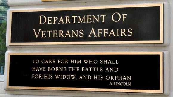 Plaque at the headquarters of the Department of Veterans Affairs.
