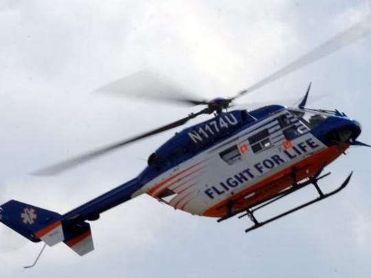 Flight for Life medical helicopter of Fond du Lac.