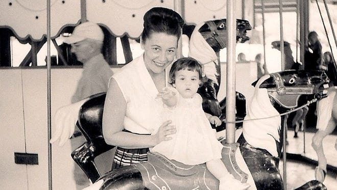 Sherri Gardner Howell as a child, pictured with her mother in 1955.