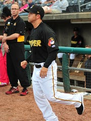 Keoni De Renne, shown here coaching with the West Virginia Power, is now coaching with the Pittsburgh Pirates Advanced-A club, the Bradenton (Fla.) Marauders.