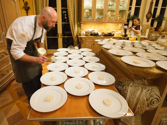 Executive Chef Colin Bedford was the featured chef during a vintner dinner Friday at Lee and Penny Anderson's home in Naples. The dinner was held in support of the Naples Winter Wine Festival.