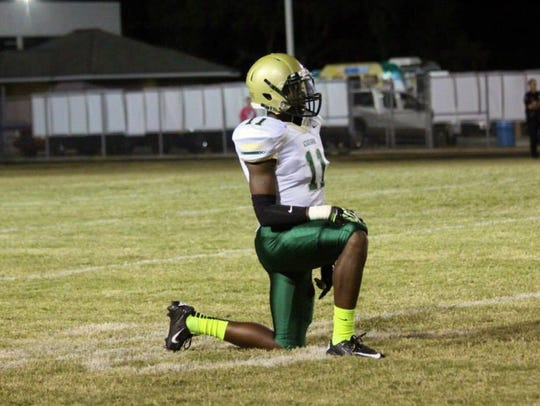 Kenneth George Jr.'s primary role on the Acadiana High football team was on the kickoff unit.
