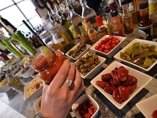 Shula's Steak House offers a Hoosier Momma Bloody Mary Bar during every home Colt's game.