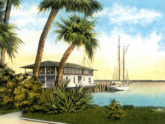 Newly enlarged St. Lucie River Yacht Club in 1924.