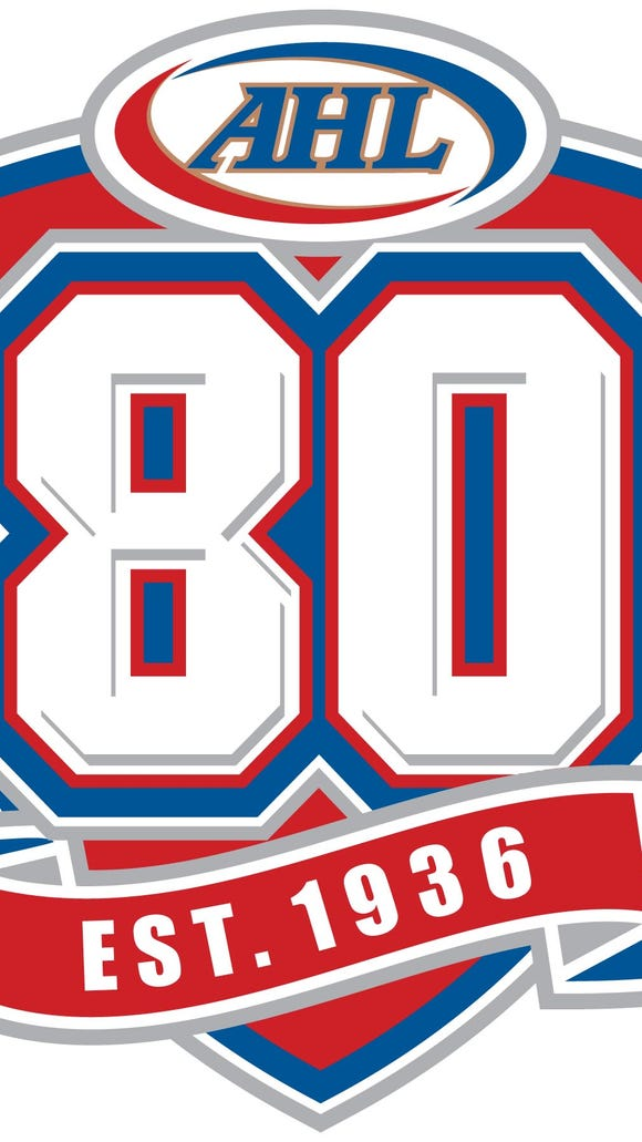 The 80th anniversary logo of the AHL.