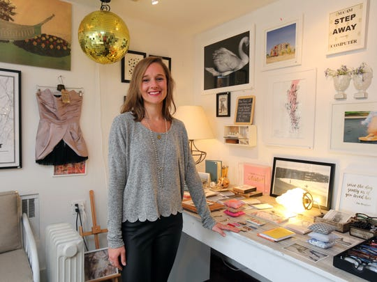 """Lindsay Owen, the manager of """"The Editor,"""" an eclectic store on Piermont Avenue in Piermon Lindsay Owen, the manager of """"the editor"""", an eclectic store on Piermont Avenue in Piermont, May 10, 2016."""