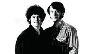 Micky Dolenz and Michael Nesmith of the Monkees
