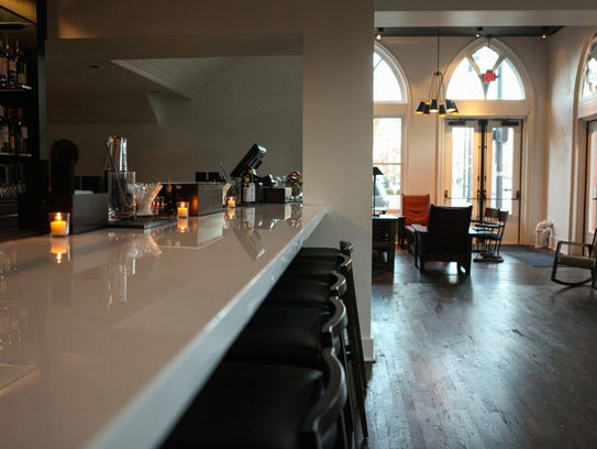 The Vestry Bar, located inside of the Transcept, is
