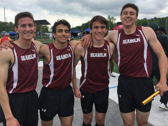 Seaholm's foursome of (left to right) Vaughan Carman,