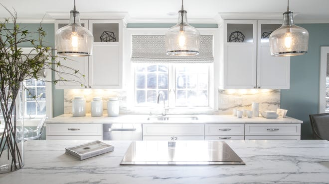 Designers Chris Beehler and Todd Otterman created a family-friendly kitchen featuring Amish custom cabinetry and honed marble countertops. The 53rd annual St. Margaret's Guild Decorators' Show House is at 5235 N. Meridian St., Indianapolis.