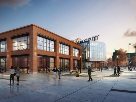 The new TitletownTech building will overlook the public plaza in the Titletown District. TitletownTech is a partnership between the Green Bay Packers and Microsoft Corp. to advance technology and innovation in northeastern Wisconsin.