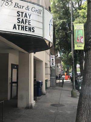 Clayton Street in downtown Athens was quiet Wednesday afternoon.