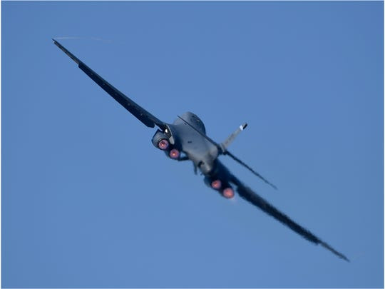 A B-1 bomber from Dyess Air Force Base.