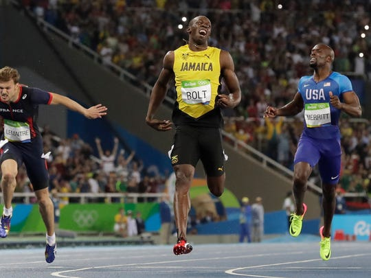 Usain Bolt wins the gold medal in the men's 200-meter .