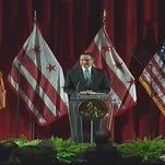 Mayor Gray delivered his farewell address on Wednesday.